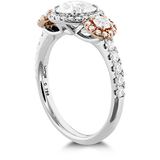 Hearts On Fire Integrity Three Stone Diamond Engagement Ring