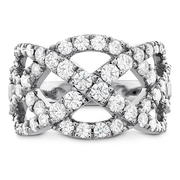 Hearts On Fire Intertwining Diamond Right Hand Ring