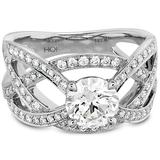 Hearts On Fire Intertwining Diamond Engagement Ring