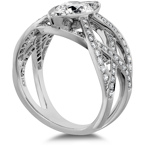 Hearts On Fire Intertwining Regal Diamond Engagement Ring