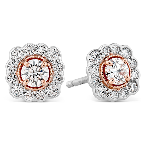 Hearts On Fire Liliana Flower Stud Diamond Earrings