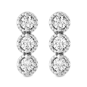Hearts On Fire Liliana Milgrain Diamond Bar Earrings