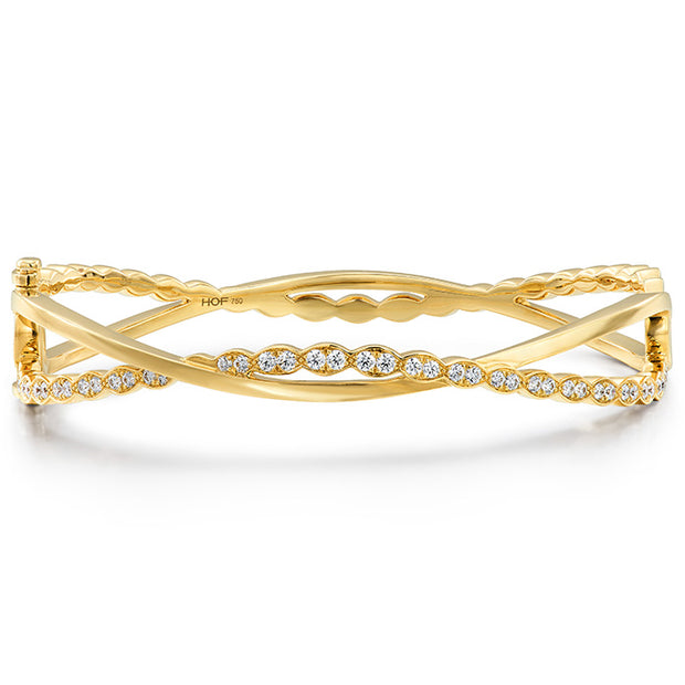 Hearts On Fire Lorelei Floral Twist Diamond Bangle