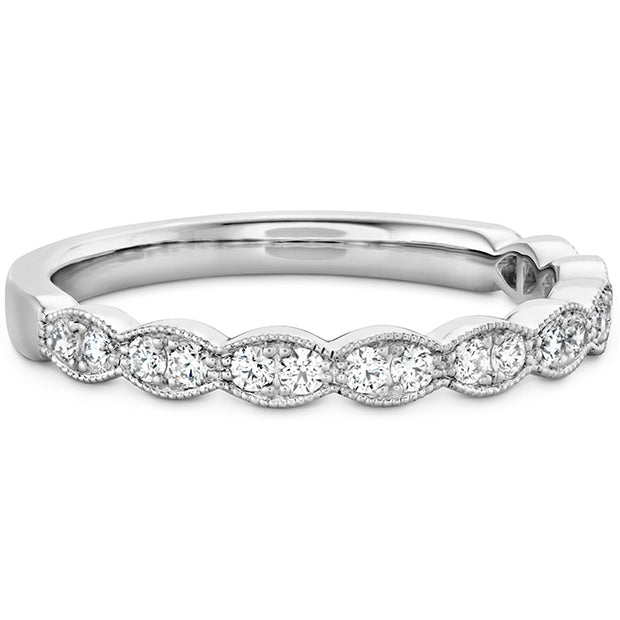 Hearts On Fire Larelei Floral Milgrain Diamond Band