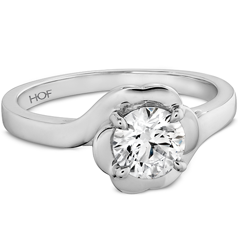 Hearts On Fire Lorelei Bloom Solitaire Diamond Engagement Ring