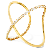 Hearts On Fire Lorelei Criss Cross Diamond Bracelet Cuff