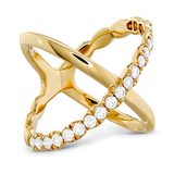 Hearts On Fire Lorelei Criss Cross Diamond Ring