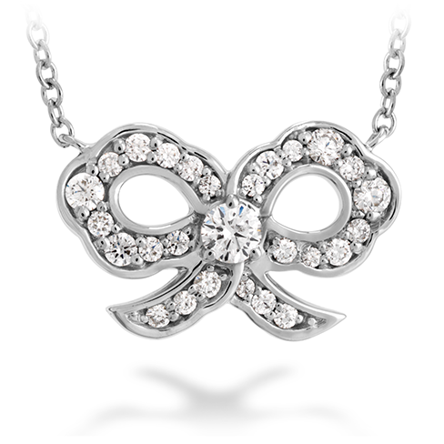 Hearts On Fire Lorelei Diamond Bow Necklace