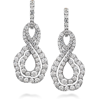 Hearts On Fire Lorelei Diamond Infinity Earrings
