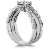 Hearts On Fire Lorelei Double Diamond Row Engagement Ring