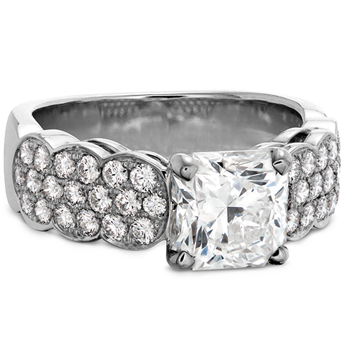 Hearts On Fire Lorelei Dream Pave Diamond Engagement Ring