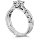 Hearts On Fire Lorelei Dream Single Cross Over Diamond Engagement Ring