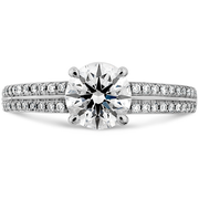 Hearts On Fire Lorelei Engagement Ring with Diamond Band