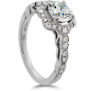 Hearts On Fire Lorelei Floral Diamond Engagement Ring