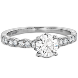Hearts On Fire Lorelei Floral Engagement Ring Diamond Band