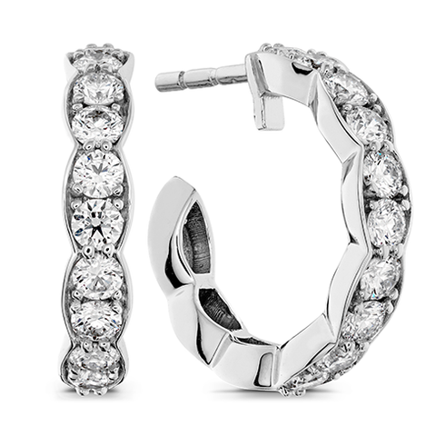 Hearts On Fire Lorelei Floral Hoop Diamond Earrings