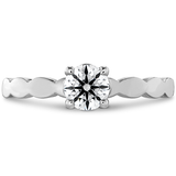 Hearts On Fire Lorelei Floral Solitaire Diamond Engagement Ring