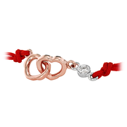 Hearts On Fire Lorelei Interlocking Heart Cord Bracelet