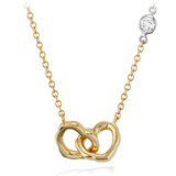 Hearts On Fire Lorelei Interlocking Heart Necklace