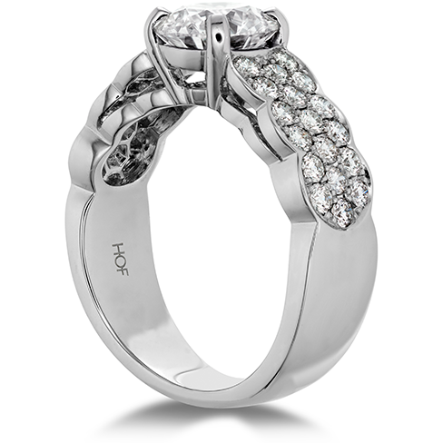 Hearts On Fire Lorelei Pave Diamond Engagement Ring