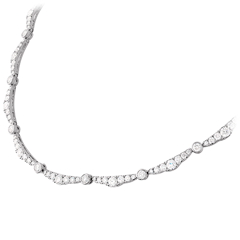 Hearts On Fire Lorelei Ribbon Diamond Line Necklace