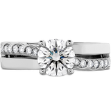 Hearts On Fire Lorelei Single Cross Over Diamond Engagement Ring