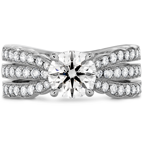 Hearts On Fire Lorelei Triple Diamond Row Engagement Ring