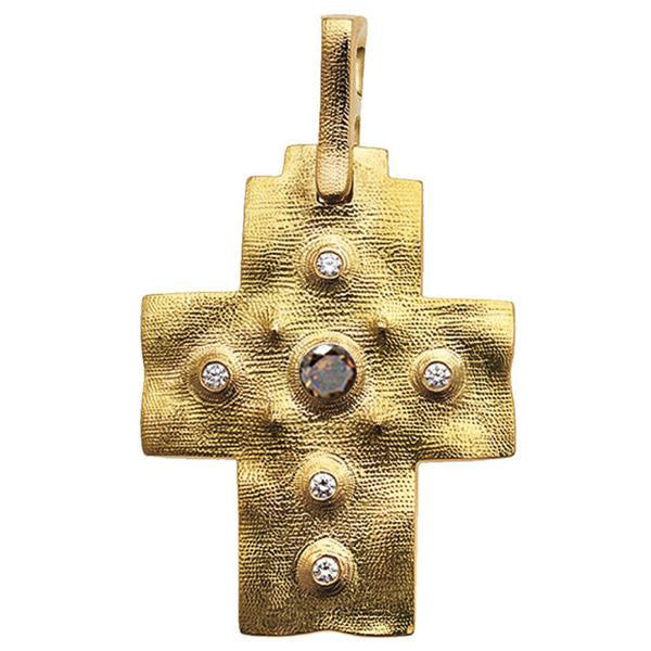 Alex Sepkus Raised Cross Pendant Necklace - M-100DC
