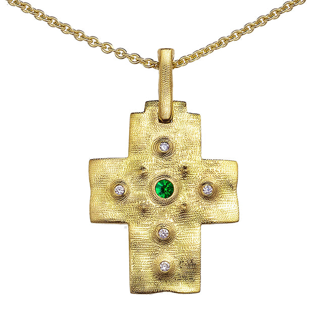 Alex Sepkus Raised Cross Pendant Necklace - M-100DT