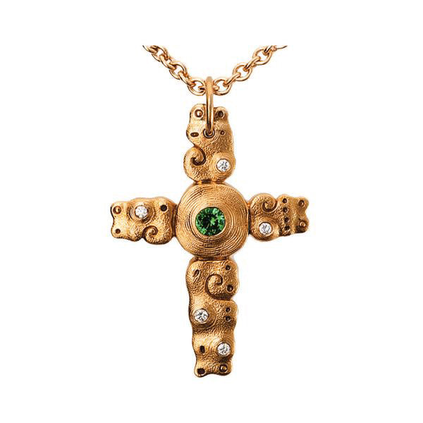 Alex Sepkus Swirl Cross Necklace - M-101R