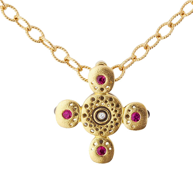 Alex Sepkus Circle Cross Pendant Necklace - M-26SR