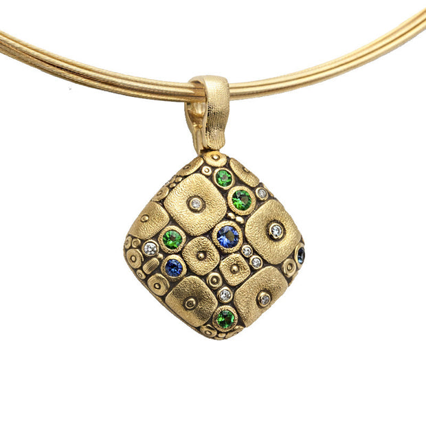 Alex Sepkus Soft Mosaic Pendant Necklace - M-46S