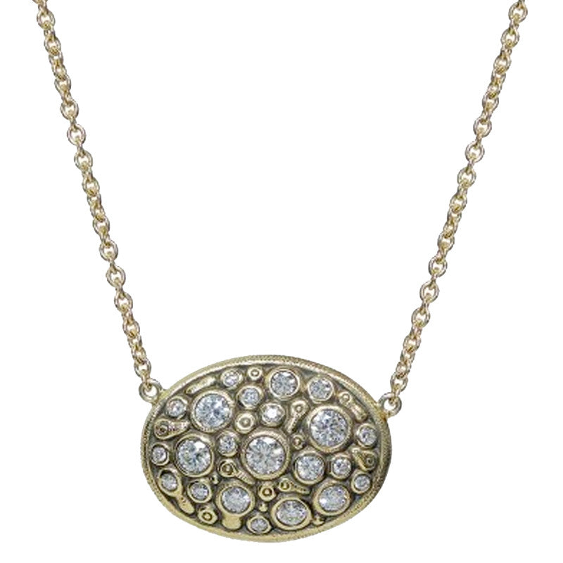 Alex Sepkus Drop Oval Pendant Necklace - M-64D