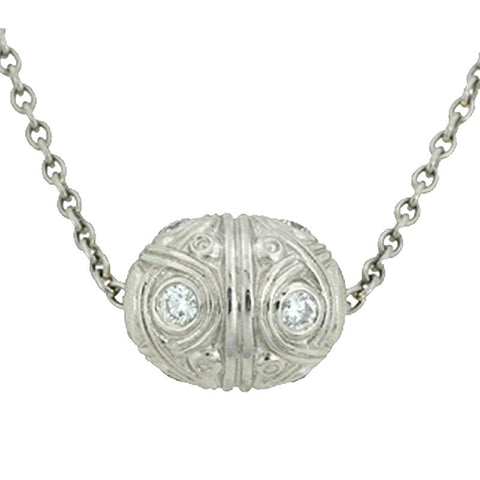 Alex Sepkus Carved Ball Pendant Necklace - M-6P