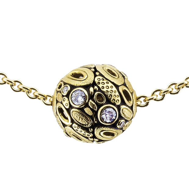 Alex Sepkus Open Oval Ball Pendant Necklace - M-919