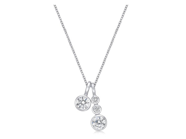 Passion Collection Multi-Stone Diamond Bezel Set Necklace