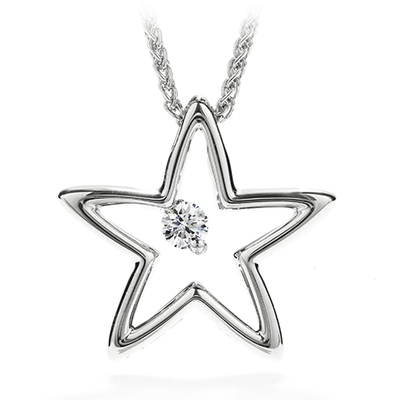 Hearts On Fire My 1st Star Pendant Necklace