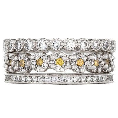 Sethi Couture First Crush Diamond Stack Ring Set