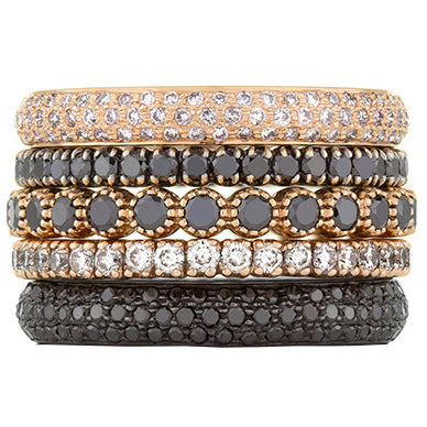 Sethi Couture Simple Elegance Diamond Stack Ring Set