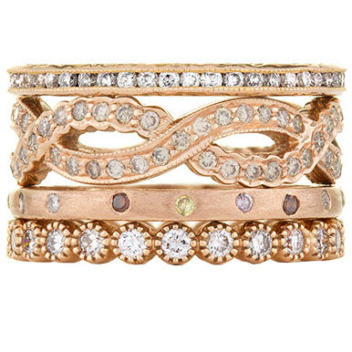 Sethi Couture La Vie en Rose Diamond Stack Ring Set