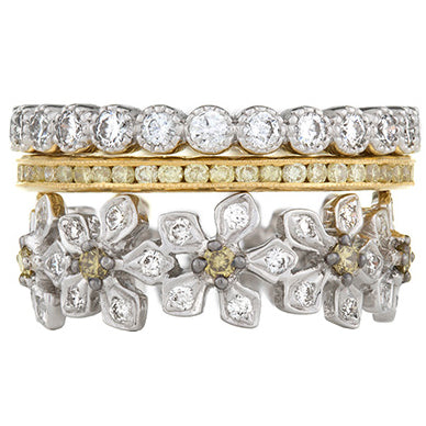 Sethi Couture Starburst Diamond Stack Ring Set