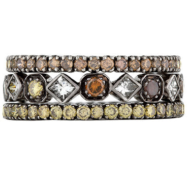 Sethi Couture Art Deco Diamond Stack Ring Set