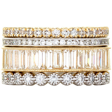 Sethi Couture Grace Diamond Stack Ring Set