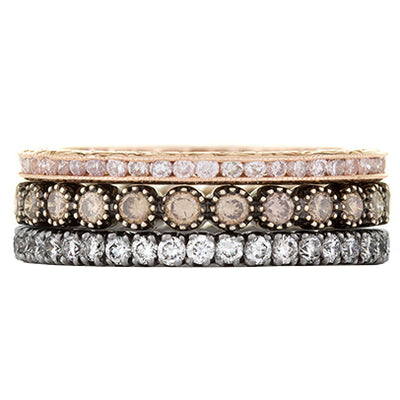 Sethi Couture Rosa Diamond Stack Ring Set