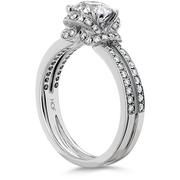 Hearts On Fire Optima Double Row Diamond Engagement Ring