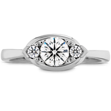 Hearts On Fire Optima Regal Horizontal Diamond Engagement Ring