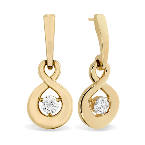 Hearts On Fire Optima Single Diamond Drop Earrings