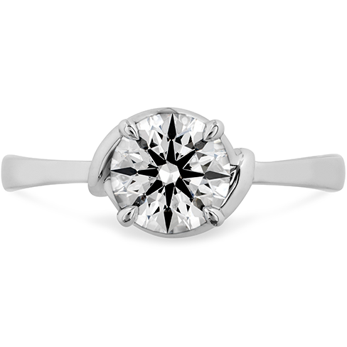 Hearts On Fire Optima Solitaire Diamond Engagement Ring