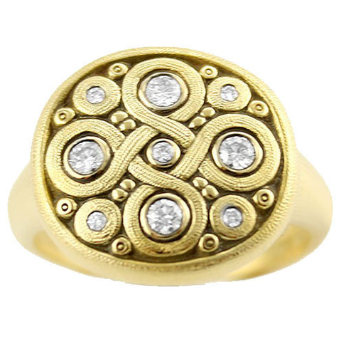 Alex Sepkus Celtic Spring Dome Ring - R-161D