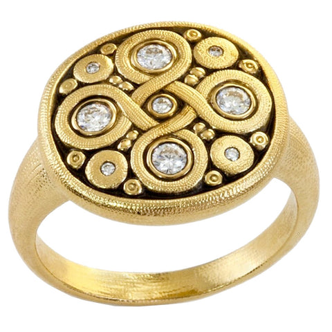 Alex Sepkus Celtic Spring Dome Ring - R-161R